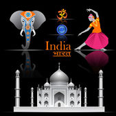 India vector set — Stock Vector