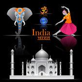 India vector set — Stock Vector