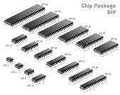 Chip paketet (dopp) — Stockvektor
