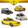 Stock Vector: Taxi cars