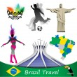 Brazil travel, vector — Stock Vector