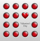 Valentine's day background, vector illustration — Vettoriale Stock
