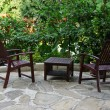 Stock Photo: Garden furniture
