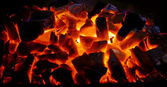 Charcoal burning in a BBQ — Stock Photo
