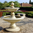 Outdoor and garden furniture. Fountain. — Стоковое фото