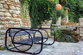 Outdoor Furniture. One Bench. — Stock Photo