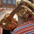 Brass band trumpeter — Foto Stock