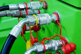 Hydraulic rubber hoses — Stock Photo