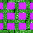 Abstract festive green background of 12 pink cells — Stock Photo #35498207