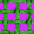 Stock Photo: Abstract festive green background of 12 pink cells