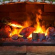 Open Fire Place — Stock Photo