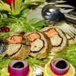 Perch stuffed with salmon — Foto Stock