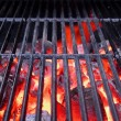Stock Photo: Hot Grill and Glowing charcoal