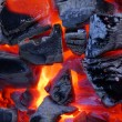 Stock Photo: Burning bright charcoal