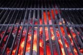 Hot Grill and Glowing charcoal — Stock Photo