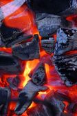 Burning bright charcoal — Stock Photo