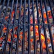Stock Photo: Glowing coal in BBQ Grill