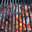 Stock Photo: Hot Grill and Burning charcoal