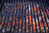Glowing coal in BBQ Grill — Stock Photo
