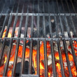 Hot Grill and Burning charcoal — Stock Photo