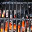 Hot Grill and Burning charcoal — Stock Photo #37263069
