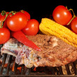 Stock Photo: Grilled Rib steak and vegetables