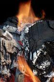 Glowing charcoal — Stock Photo
