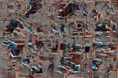Patchwork abstract mosaic pattern background — Stock Photo