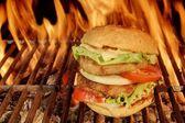 Large Cheeseburger — Stock Photo