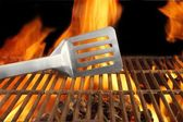 Barbecue  Fire Flame Hot Grill Spatula, XXXL — Stock Photo