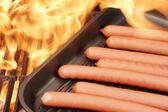Grilled Sausages, XXXL image — Stock Photo