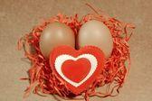 Kalp sevmek senin vintage tebrik kartı düzenlenmesi, xxxl — Stok fotoğraf