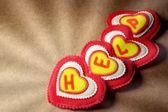 Heart Help Vintage Greeting Card, XXXL — Stockfoto