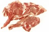 Raw Lamb Chops on White Background, XXXL — Stockfoto
