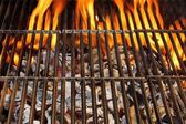 Barbecue Grill and Burning Charcoal, XXXL — Stock Photo