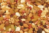 Close up of a mixed of nuts and dry fruits, XXXL — Stock Photo