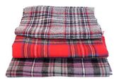 Multicolored Tartan Scarves — Stock Photo