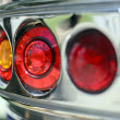 Vintage caravan tail lights — Stock Photo