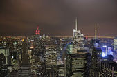 New York City aerial night view — Stock Photo
