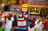 Vintage toy drummer — Stock Photo