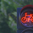 Bicycle red light semaphore — Stock Photo #28425429