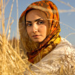 Muslim young woman — Stock Photo