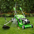 Outdoor shot of garden equipment. — Stock Photo