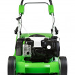 Green lawnmower isolated on white background — Stock Photo