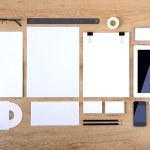 Шаблон для брендинга личность. .  Для графических дизайнеров презентаций и портфелей.