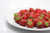 Strawberries with withe background — Stock Photo