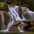 Waterfall at Sallent River. La Garrotxa — Stock Photo