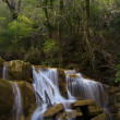 Waterfall at Sallent river, La Garrotxa. — Stock Photo