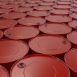 Red oil barrels — Stockfoto