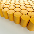 Yellow oil barrels — Stock Photo